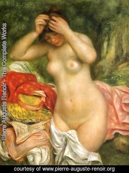 Pierre Auguste Renoir - Bather Arranging Her Hair